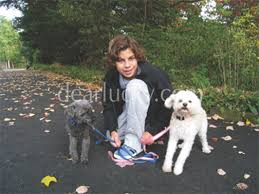 Jake and dogs Bogey and Beju